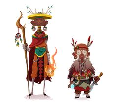 Forest Tribal Warriors by Jordi Villaverde, via Behance