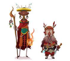 Forest Tribal Warriors by Jordi Villaverde, via Behance