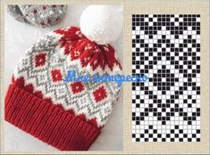Fair Isle Knitting Patterns, Knitting Charts, Knit Patterns, Hand Knitting, Sewing Patterns, Crochet Gloves, Knitted Hats, Tapestry Crochet, Bandeau