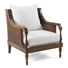 British colonial plantation chair, cane sides and solid wood-For entry way
