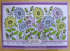 Welcome to Lisa.B.Designs : Masking technique - spring flowers