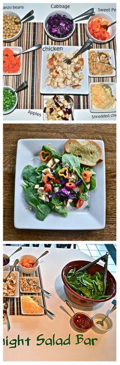 Easy DIY Salad bar!