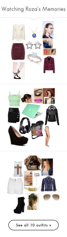 """""""Watching Roza's Memories"""" by rosemarie-lestrange ❤ liked on Polyvore featuring Color Club, Neon Rose, IRO, The Kooples, WearAll, Emilio Cavallini, Insten, Beats by Dr. Dre, Jane Norman and Chelsea Crew"""