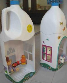 DIY Incredible Plastic Bottle Toys: House Doll from recycle bottle