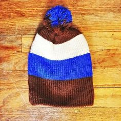 06e8d92aef8b5 My Striped Beanie w  PomPom by ! Size for   5.00. Check it out
