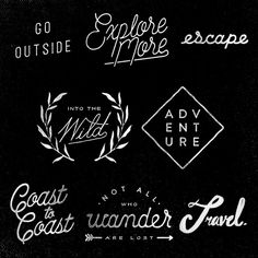 Young Wanderers Club (Travel Typography) on Typography Served
