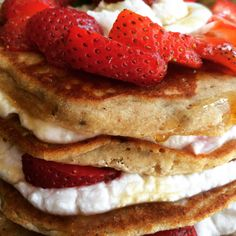 These #glutenfree vegan #sugarfree #allergyfree Strawberry Shortcake Pancakes made the cut. They're going in my new cookbook!