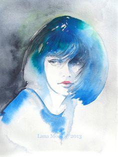 Peinture-aquarelle-originale-