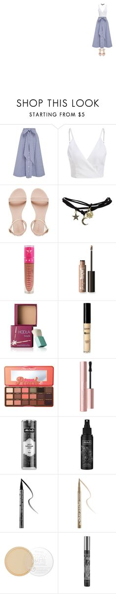 """lil bit of a date"" by katketenbrink ❤ liked on Polyvore featuring Lisa Marie Fernandez, Wet Seal, Jeffree Star, Benefit, ULTA, Too Faced Cosmetics, Kat Von D, Rimmel and TokyoMilk"