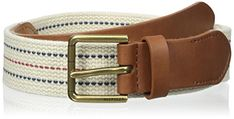 Tommy Hilfiger Men's Webbed Belt with Leather | shopswell