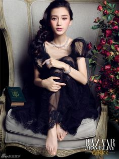 Is Angelababy also channeling some of that Republican era feeling in this photo shoot? Look for more photos of the s… Baby Feet Pictures, Silky Smooth Legs, Barefoot Girls, Angelababy, Sheer Beauty, Celebrity Feet, Beautiful Asian Girls, Asian Woman, Beauty Women