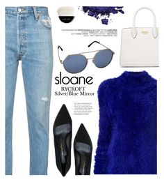 """Blue passion"" by yexyka ❤ liked on Polyvore featuring Marni, RE/DONE, Salvatore Ferragamo, Prada, Pat McGrath, Giorgio Armani, sunglasses, polyvoreeditorial, polyvorecontest and fallfashion"