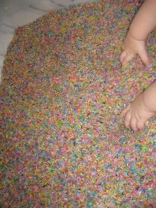 Colored Rice Pit for Kid Play via- Everyday Game Plan