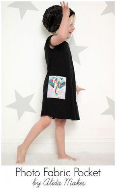 Photo Fabric Pocket Tutorial | Alida Makes #craftmonthlove