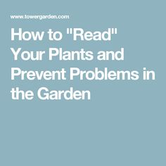 How To Read Your Plants And Prevent Problems In