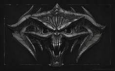 #art #tattooart #2dart #digitalart #demon #demonface #demonmask #darkart