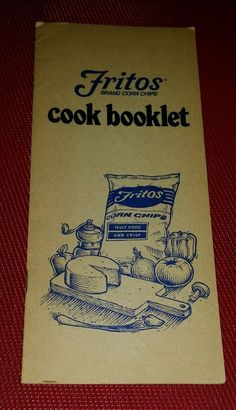 RARE Vintage Frito-Lay Fritos Corn Chips FRITOS COOK BOOKLET pb
