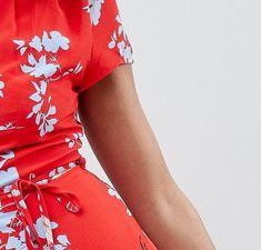 Glamorous Petite | Glamorous Petite Mini Dress With Tie Waist In Heron Print
