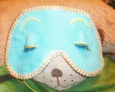 """Handmade Holly Golightly / Audrey Hepburn sleep mask with eyelashes, inspired by the one in """"Breakfast at Tiffany's"""".  Each mask is custom made to order and comes giftwrapped  :)"""