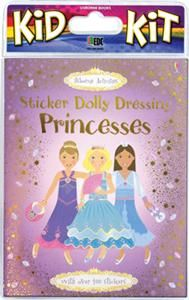 SAVE 60% on the best-loved Princess Sticker Dolly Kit! Retail $15.99, now just $6.40 through Monday 2/24 or while supplies last! Includes: Sticker Dolly Dressing Princesses book, tiara, jeweled stretch bracelet, 10 stick-on jewels, and cosmetic glue. See more great deals (40-70% OFF!) at M3001.myubam.com/c/45/internet-specials