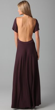 Jersey Maxi Dress. Gotta have that back toned to pull this off!