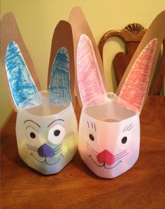 My daughter and I were waiting to pick my son up from school and she saw some of the kids walking out with these Easter Bunny egg holders made from a milk jug. She started exclaiming excitedly that we ...