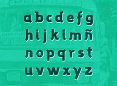 Melipilla Typeface by Ivonne Robledo, via Behance