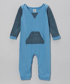 Take a look at this Sky Blue Romper - Infant by Lake Park Kids on #zulily today!