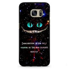 Alice In Wonderland Cheshire Cat Quote Phonecase Cover Case For Samsung Galaxy S3 Samsung Galaxy S4 Samsung Galaxy S5 Samsung Galaxy S6 Samsung Galaxy S7