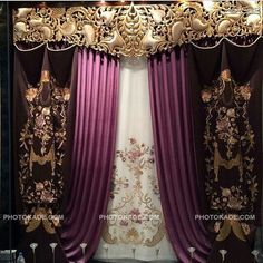 Hall Curtains, Curtains And Draperies, Luxury Curtains, Modern Curtains, Curtain Styles, Curtain Designs, Elegant Home Decor, Elegant Homes, Fancy Living Rooms