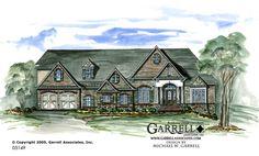 Garrell Associates, Inc.Presidio House Plan # 05149, Front Elevation,Traditional Style House Plans, Design by Michael W. Garrell