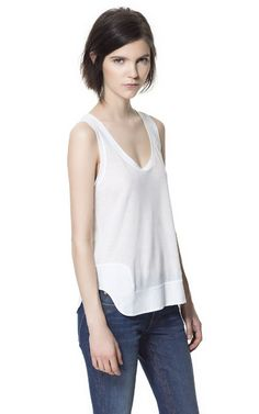 TANK TOP WITH ROUNDED HEM - Last sizes - Woman | ZARA United States