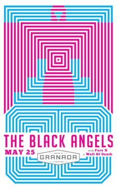The Black Angels, The Pure X and Wall of Death at Granada Theater in Dallas, by Steve Verseckes