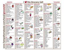grocery list by aisle