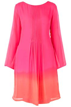 Neon pink and red shaded tunic BY ANITA DONGRE. Shop now at perniaspopupshop.com