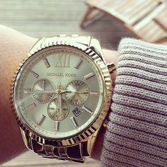 #michaelkors #watch #gold