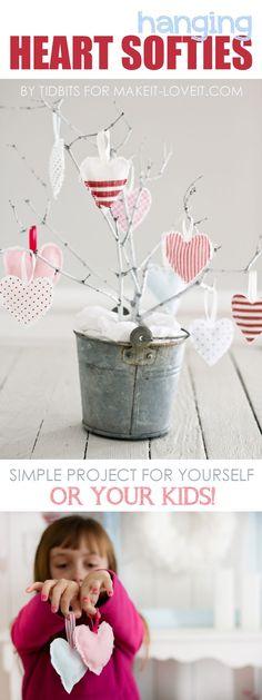Hanging Heart Softies - Valentines Decoration