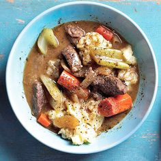 Chase the winter chill away with this down-home favorite -- beef and vegetables served over leftover mashed potatoes: http://www.bhg.com/christmas/recipes/ideas-for-christmas-leftovers/?socsrc=bhgpin120914skilletbeefstew&page=6