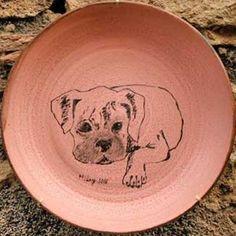Retrato de mascota en plato, de Ceràmica Ley