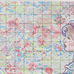 Схема вышивки В ее саду (Dimensions) 1 из 8