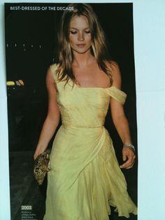 yellow dress kate moss dress