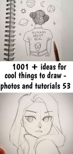 ▷ 1001 + ideas for cool things to draw - photos and tutorials - Aria Person Drawing, Nose Drawing, Drawing Tips, Drawing Stuff, Drawing Ideas, Doodle Drawings, Animal Drawings, Easy Drawings, Pencil Drawings