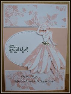 I am hoping that this card will inspire me to create and share more here This card has been floating around in my head for a few days n. Daisy Delight Stampin' Up, Feather Cards, Dress Card, Stamping Up Cards, Pretty Cards, Creative Cards, Greeting Cards Handmade, Homemade Cards, Making Ideas