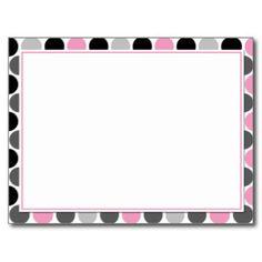 #4Modern Pink Gray Black Circles Recipe Cards Post Card