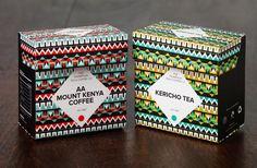 Thompson Tea & Coffee Co. by Aleksandra Kulecka, via Behance. Great patterns on this #tea #packaging PD