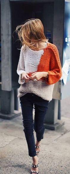 fall fashion orange color pop
