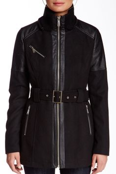 BCBGeneration Detachable Hood Front Zip Coat by BCBG on @nordstrom_rack