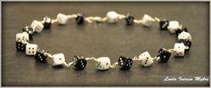 Handmade dice necklace