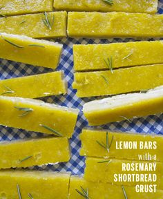 These Lemon Bars with Rosemary Shortbread Crust sound amazing! Take a Megabite/@Take A Megabite (Megan)