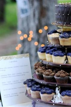 "Cupcake Wedding by ""Traci's Sweet Surprises"""